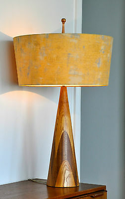 Atomic Mid Century Eames  Danish '-Nål;' Table Lamp with new bespoke shade