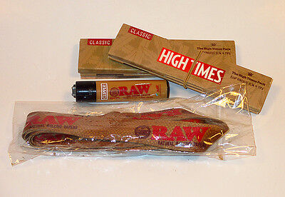 High Times RAW Limited Edition Pack Includes Lighter Lanyard And 2pk Papers Tips