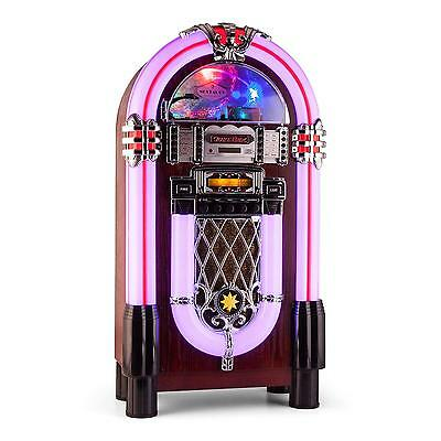 [B-Ware] Jukebox Xxl Musikbox Cd Mp3 Player Bluetooth Usb Sd Led Beleuchtung