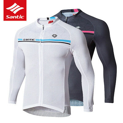 Santic Long Sleeve Cycling Jersey Anti-UV Breathable Riding Bike Bicycle Clothes