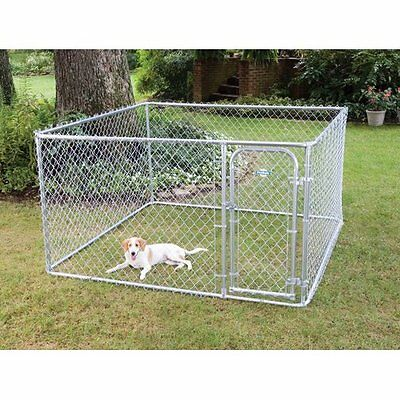Dog Boxed Garden Kennel in Galvanised New Rust Resistant Puppy Dog Lovely Cage