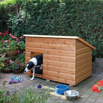 Large Garden Dog Kennel New Pet Solid Wooden Resting House with Felt Roofing