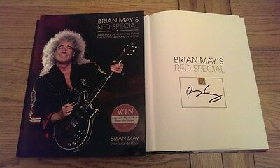 Brian May Red Special Signed 1St Edition Hardback Book 2014 Queen