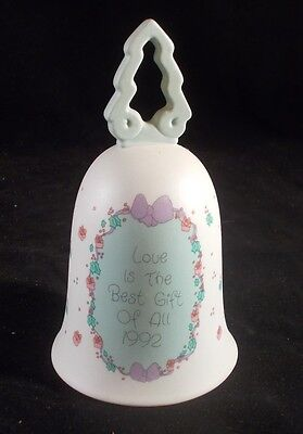 Precious Moments Bell 1992 Vintage Love Is The Best Gift Of All