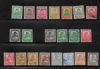 Collection Of Trengganu Malaya States Stamps Used And Unused