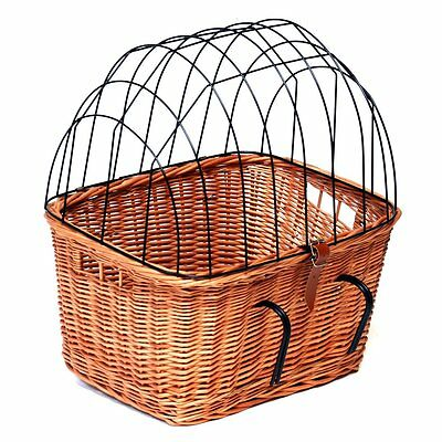 Hard-sided Bicycle Pet Carrier New Strong and Secure Pet Willow Travel Basket
