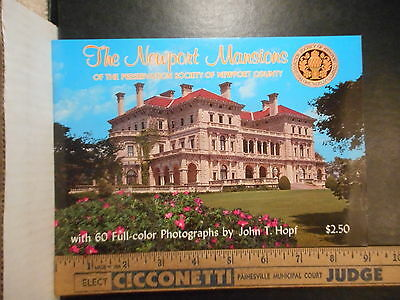 Rhode Island The Newport Mansions Photo Booklet  (1988)  623TB.