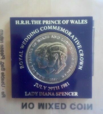 1981 HRH The Prince Of Wales & Lady Diana Spencer - commemorative Crown - TSB