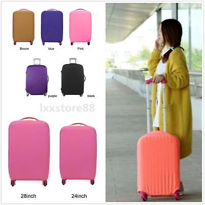 Travel High Elastic Solid Color Dust-proof Luggage Suitcase Protective Cover BA