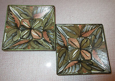 2 Bourne Denby Glyn Colledge Square Pottery Dishes (Charity Sale)
