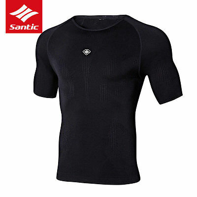 Santic Men Cycling Jersey Breathable Elastic Bike Tops Bicycle T-shirts Clothes