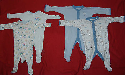 Four sleepsuits, boys, 0-3 months