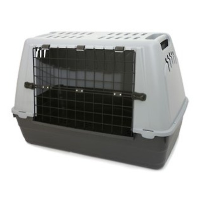Bracco Car Carrier in Grey New Hard-sided Lightweight Plastic Pet Travel Cage