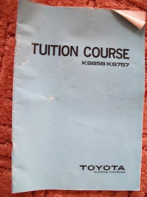 Vintage Toyota Ks858/ks757 Knitting Machine Tuition Course Manual