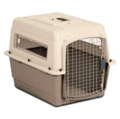 Medium Vari Ultra Fashion Dog Kennel in Bleached Linen and Beige Pet Carrier New