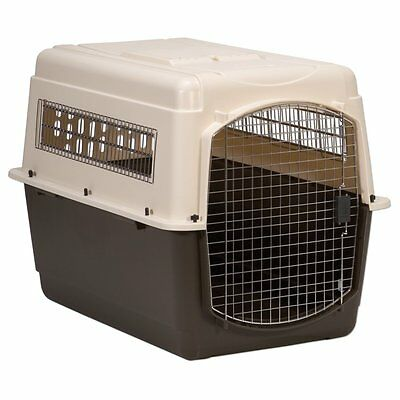 New X-Large Vari Ultra Fashion Dog Kennel in Bleached Linen and Coffee Ground