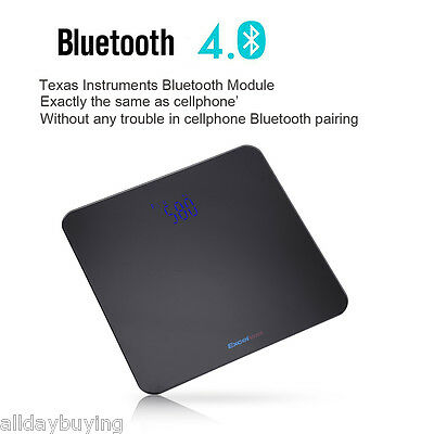 400lbs Electronic Bluetooth Body Fat Scale Bathroom Scales Weight Fat BMI Analyz