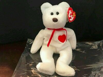 Rare Ty Valentino Beanie Baby Bear with 17 errors. Mint condition