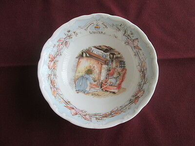 "Royal Doulton Brambly Hedge Winter Bowl 5.5"" Wide"