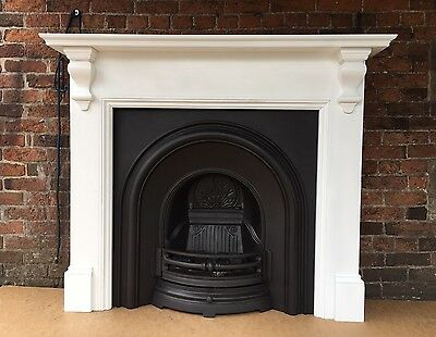 Beautiful Cast Iron Fireplace + Gas Fire +  Fire Surround DEL £25