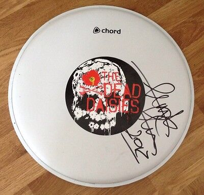 "The Dead Daisies Signed Autographed 10"" Drumhead, Frank Ferrer, Guns N Roses"