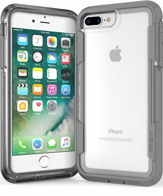 Pelican, C24030-003B-CLCG, Voyager Case for Apple iPhone 7 Plus, Clear/Grey