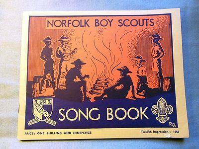 1956 NORFOLK BOY SCOUTS SONG BOOK 12th Impression ~ 7 pics