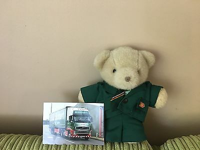 Teddy Bear, Perfect Condition.In Eddie Stobart Type Uniform.including Picture.