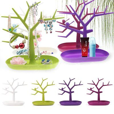 Jewelry Necklace Ring Earring Tree Stand Display Organizer Holder Show Rack BA