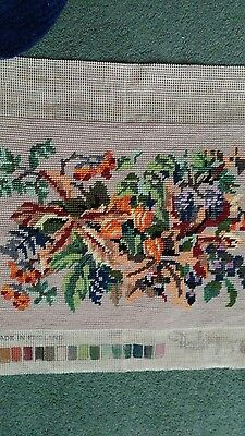 Needlepoint Rectangular Tapestry Completed Ideal For Framing or Cushion front