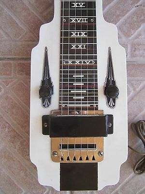 *rare* white NATIONAL NEW YORKER  Lap Steel Guitar ~ Excellent Condition !!  ~