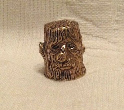 Russian Сollectible Decorative Brass Thimble Wood Goblin
