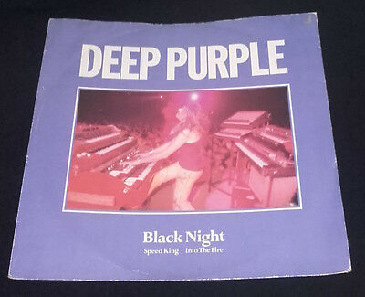"DEEP PURPLE. 12"" Black Night/Speed King/Into the fire: P/S  1985 EMI /HARVEST"