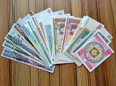 30 Different  paper money collection. non-repetition of all. UNC BANKNOTE 30 PCS