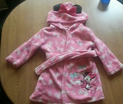 Baby Girl Pink Minnie Mouse Dressing Gown 18-24months