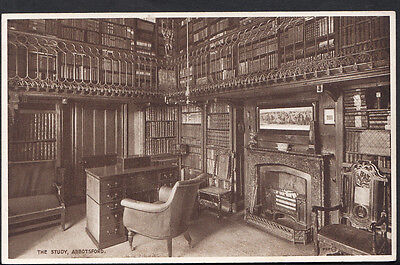 Scotland Postcard - The Study, Abbotsford    RS3344