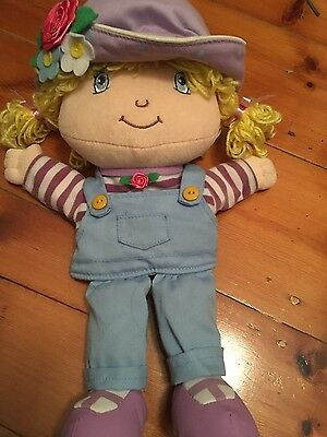"Strawberry Shortcake Plush Hand Puppet 13"" Angel Cake Vgc Cute"