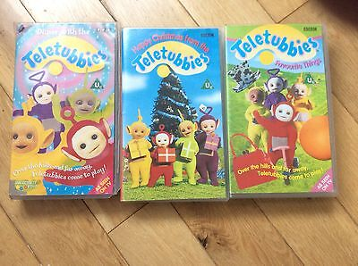 tellytubbies vhs video tapes x3