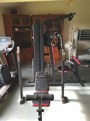 Home Gym Station with Bench Press Bar And Dumbbells