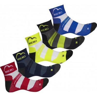 3 Pairs More Mile Endurance Mens Running Fitness Socks - 5 Colours