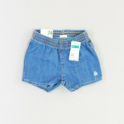 Pantalón corto color Denim oscuro marca Benetton 9 Meses