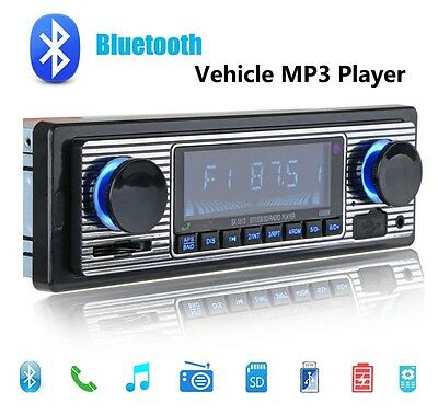 Vintage Classical Style Car Stereo Radio Bluetooth/USB/SD/MP3/AUX-IN/Phone 1DIN
