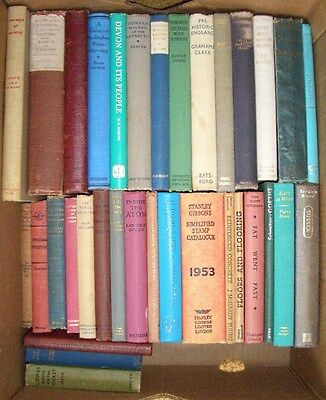 Joblot of 34 old and vintage hardcover non-fiction books
