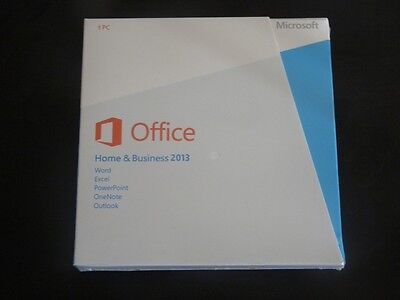 BRAND NEW  Sealed! MICROSOFT OFFICE HOME AND BUSINESS 2013 Product Key Card+DVD