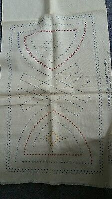 Cross stitch cushion to embroider. Vintage item. Cotton or linen?