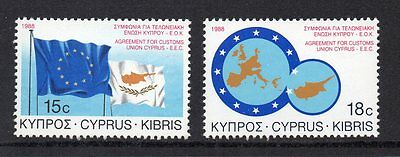 CYPRUS - 1988, Customs Union, MNH