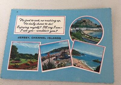 Vintage No Cooking No Washing Up...Postcard, Jersey Channel Islands VGC