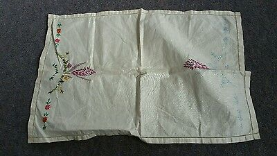 Large tray cloth to embroider. Vintage item.  linen?