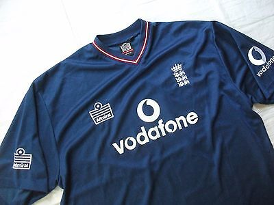 England  Cricket  Shirt     Xxl  Vintage  Blue  Vodafone   Immaculate   Classic