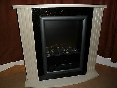 Dimplex 2KW electric fire with cream surround